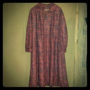 Dresses & Skirts - Vintage dress red black size xl